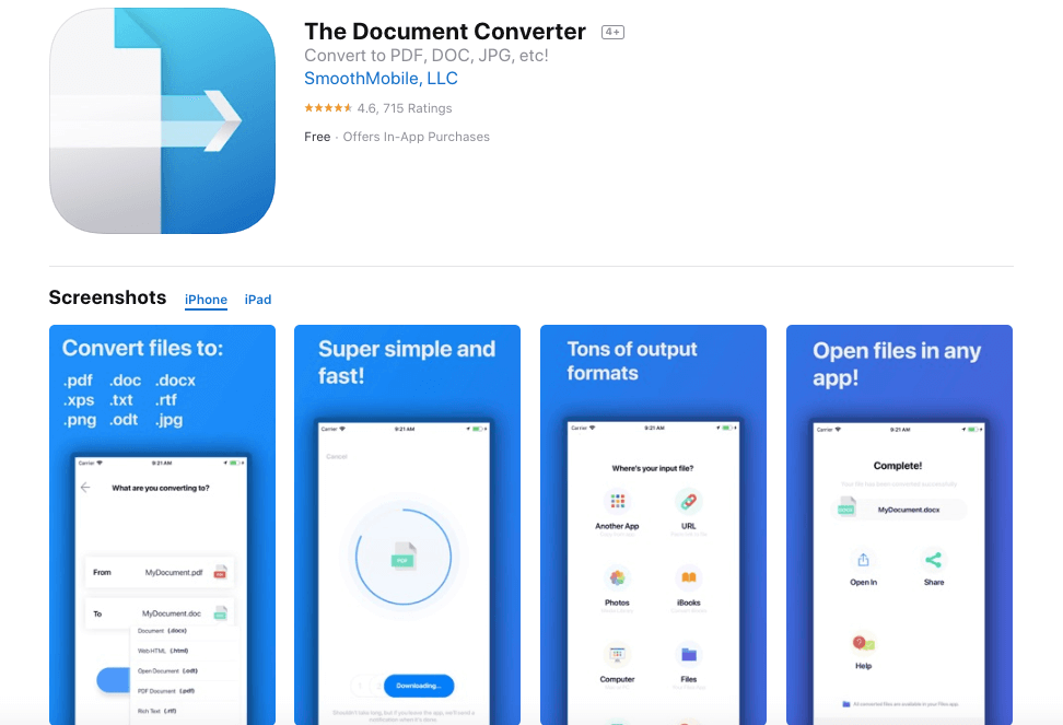 The Document Converter Screenshots