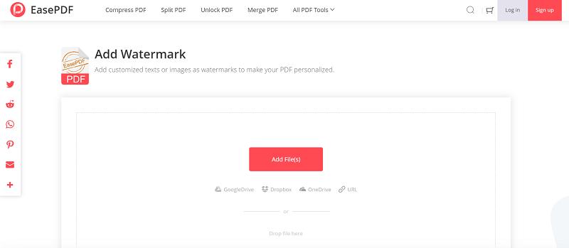EasePDF Add Watermark Add PDF