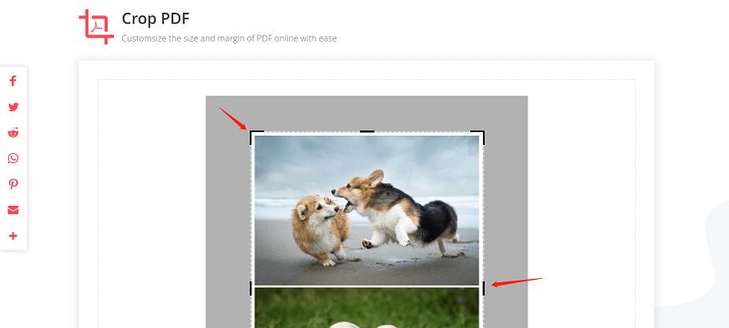 EasePDF Crop PDF Select Size to Crop