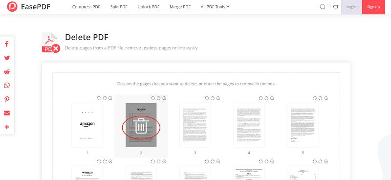 EasePDF Delete PDF Delete Page