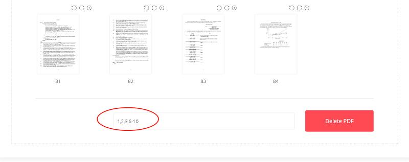 EasePDF Delete PDF Enter Pages to Delete