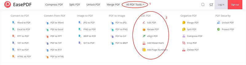 EasePDF Edit PDF Tools