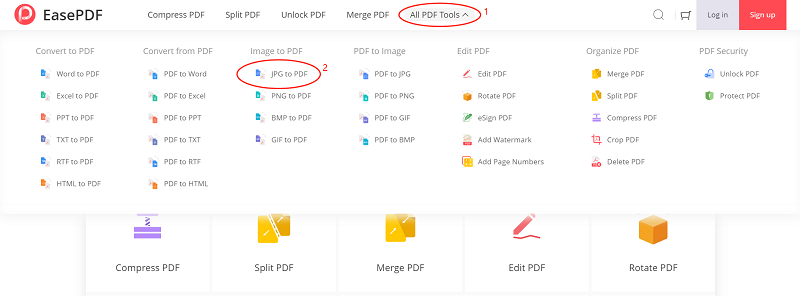 EasePDF Image to PDF