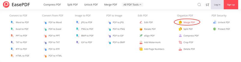 EasePDF Merge PDF