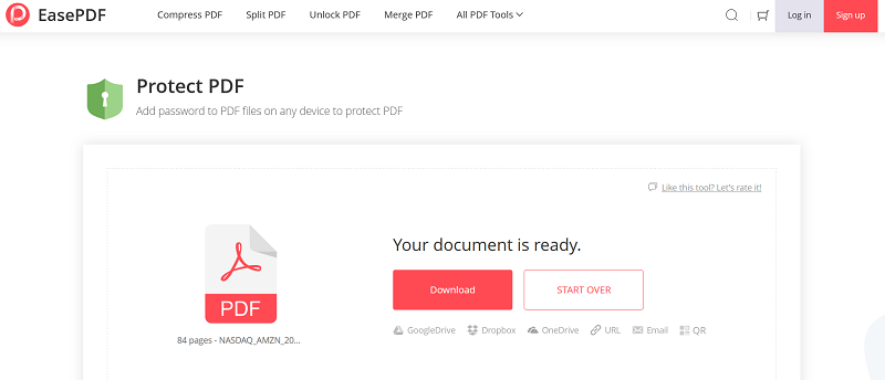 EasePDF Protect PDF Download File